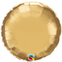 "Gold Chrome Foil Balloon (18"" Round) 1pc"